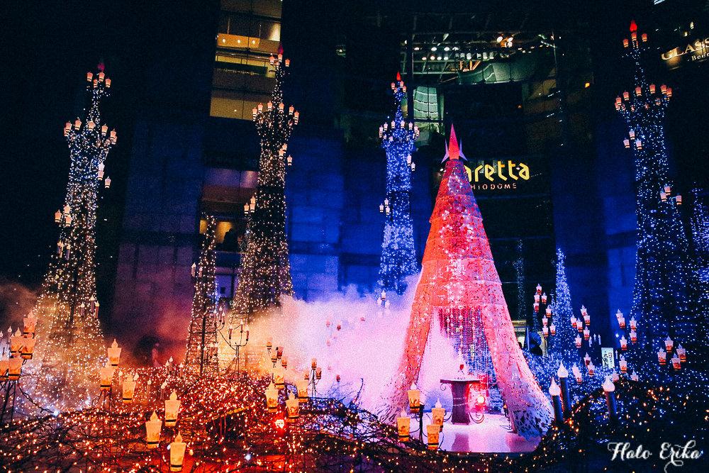 日本|情人節、聖誕節、跨年就來這裡約會吧!汐留caretta 美女與野獸主題燈飾