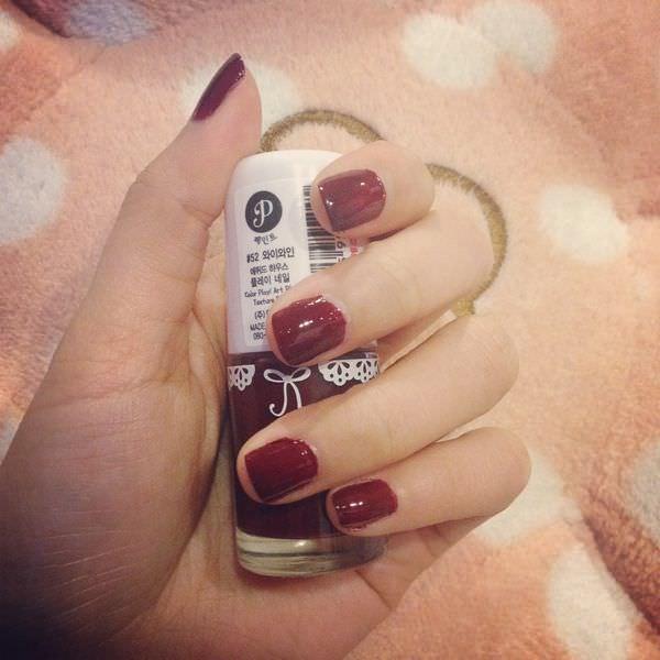 指彩|ETUDE HOUSE 顯白葡萄紅 浪漫玩色指甲彩♥